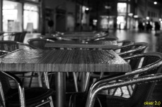 Straßencafe.